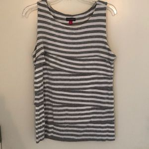 Vince Camuto layered sleeveless shirt , sz L